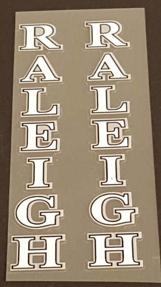 Raleigh Fork Decals w/Double Outline - 1 Pair - Choose Color