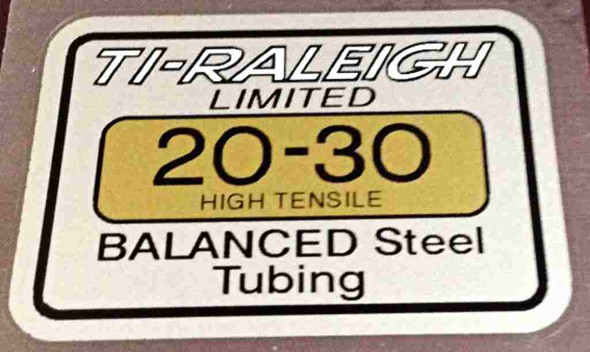 Raleigh T.I. 20-30 Tubing Decal