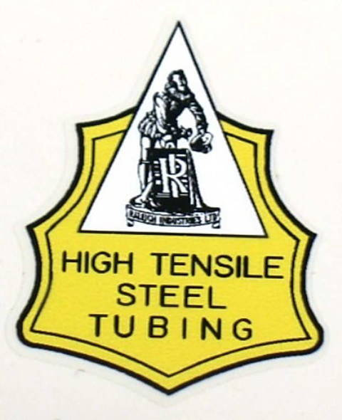 Raleigh High Tensile Steel Tubing Decal - Yellow