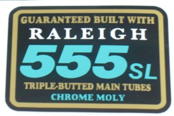Raleigh 555 SL Triple Butted Tubing Decal