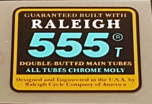 Raleigh 555 T Tubing Decal