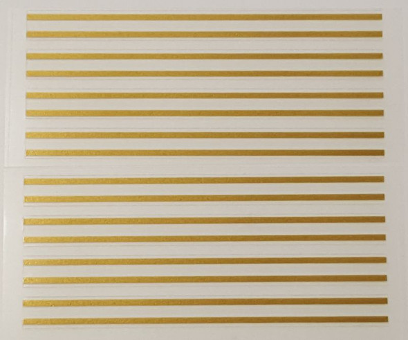 Double Gold Stripes - Group of 8