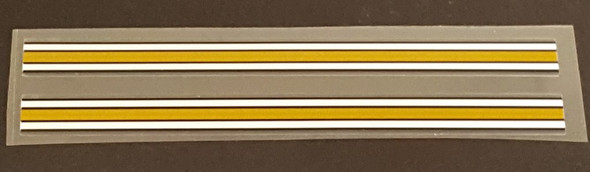 Gold/White Stripes - Fine - 1 Pair