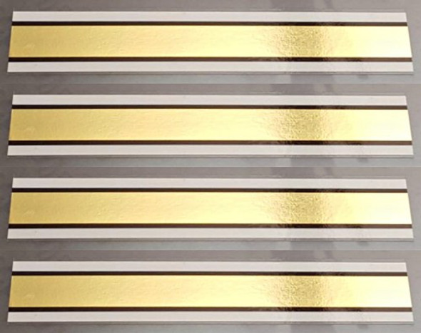 Mirror Gold Bands - Set of 4