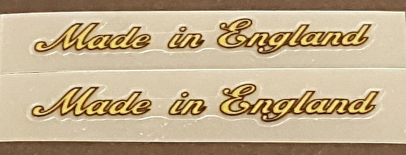 Made in England Decals - Small Gold w/Black Outline - 1 Pair