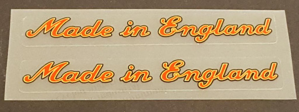 Made in England Decals - Large Red/Gold/Black - 1 Pair