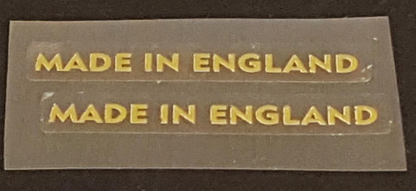 Made in England Decals - 1 Pair