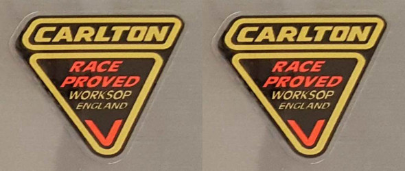 Carlton Race-Proved Tubing Decals - 1 Pair
