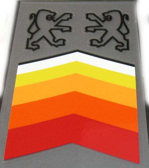 Peugeot  Chevron Seat Tube Decal with Black Opposing Lions