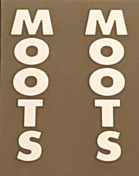 Moots Seat Stay Decals - 1 Pair - Choose Color
