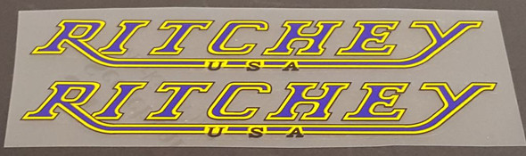 Ritchey USA Down Tube Decals - 1 Pair - Choice of Colors