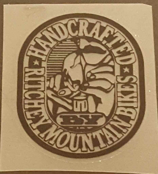 """Ritchey """"Handcrafted by Ritchey Mountain Bikes"""" Decal - Black on Clear"""