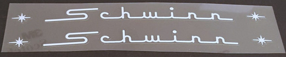 Schwinn Curved Top Tube Decals with Stars - 1 Pair - Choose Color