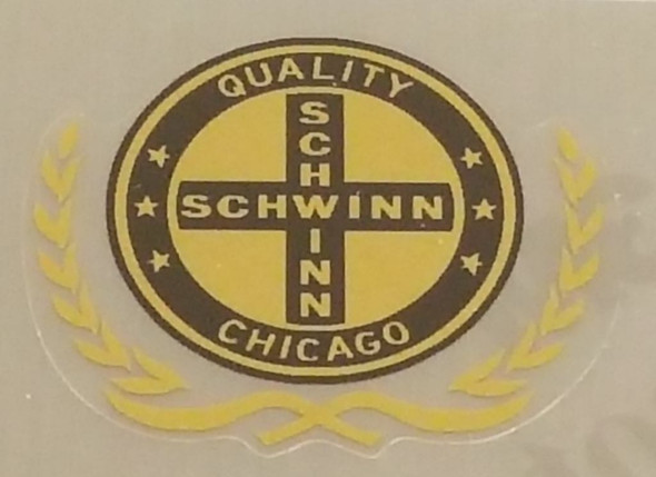 Schwinn Quality Chicago Seat Tube Decal with Wreath