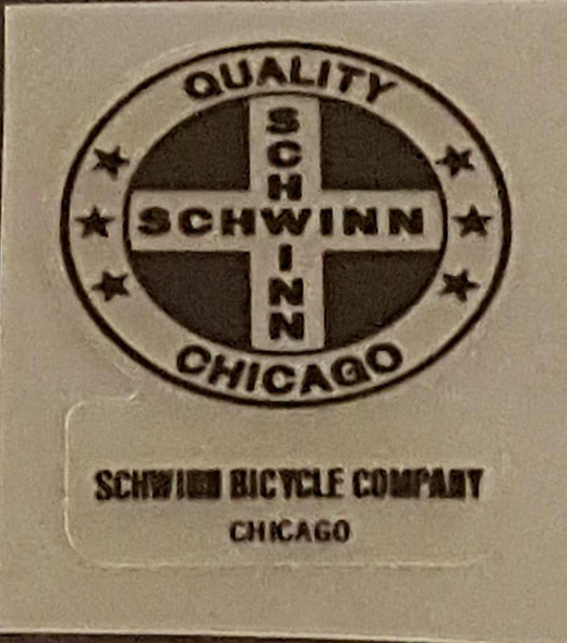 Schwinn Quality Chicago/SBC Seat Tube Decal - Choice of Color on Clear