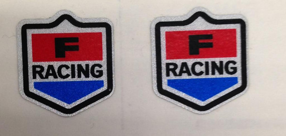 Fuji Shield Fork Decals on Reflective white Vinyl - 1 Pair