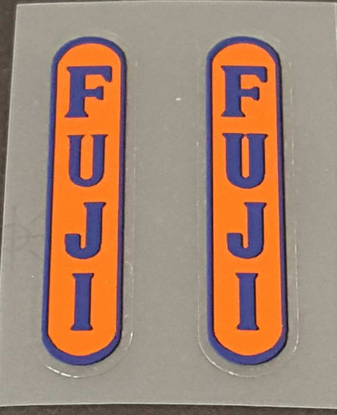 Fuji Vertical Oval Stay Decals - 1 Pair - Choose Colors