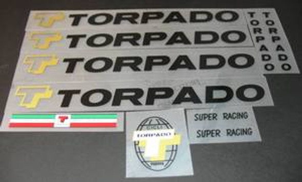 Torpado Super Racing Bicycle Decal Set