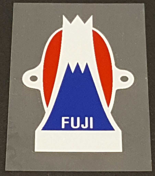 Fuji Head Badge Decal with Simulated Screw Mounts