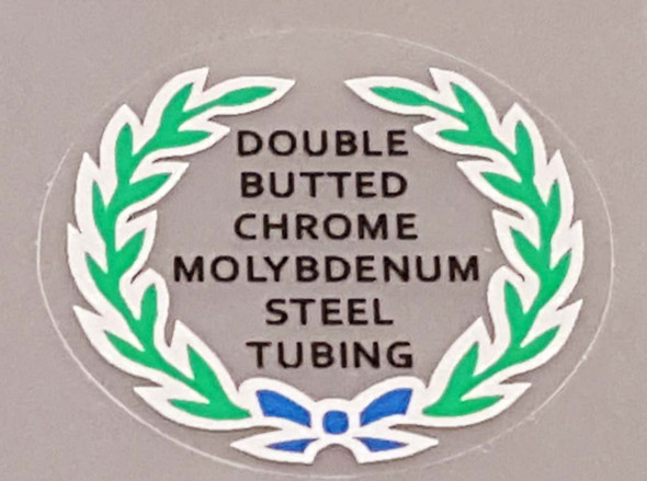 Fuji Double Butted Cro Mo Tubing Decal (Blue Bow) - Choose Black or White Lettering