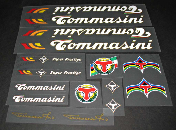 Tommasini Super Prestige Bicycle Decal Set