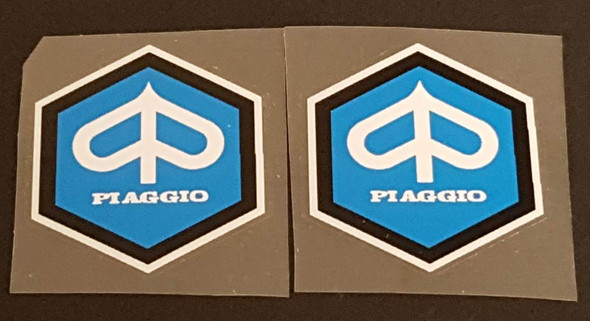 Bianchi Piaggio Decals with Double Border- 1 Pair