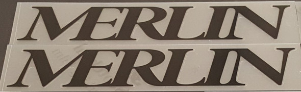 Merlin 1992 Down Tube Decals - 1 Pair Black