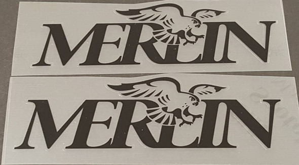 Merlin 1990 Down Tube Decals - 1 Pair Black