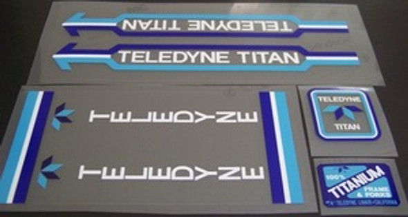 Teledyne Titan Bicycle Decal Set