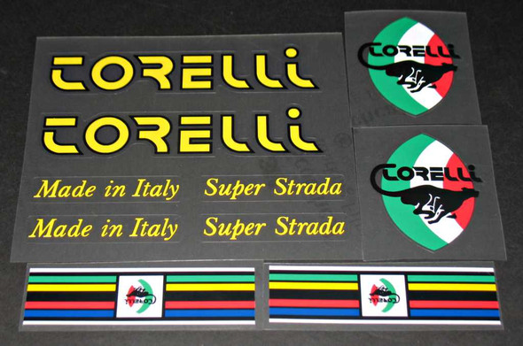 Torelli Super Strada Bicycle Decal Set