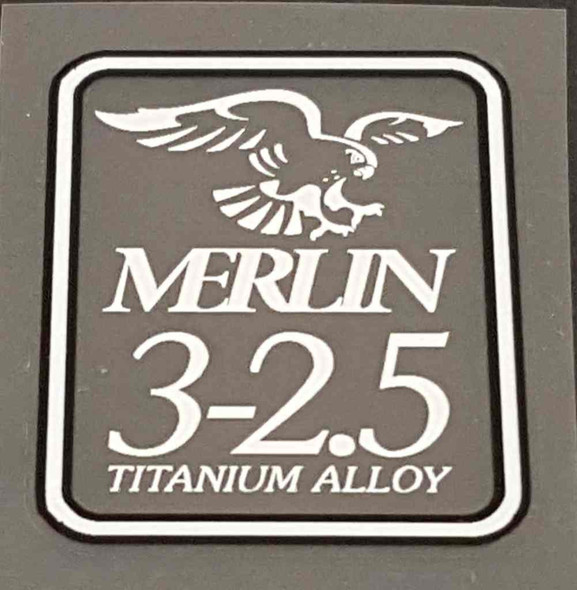 Merlin 3-2.5 Tubing Decal - White/Black