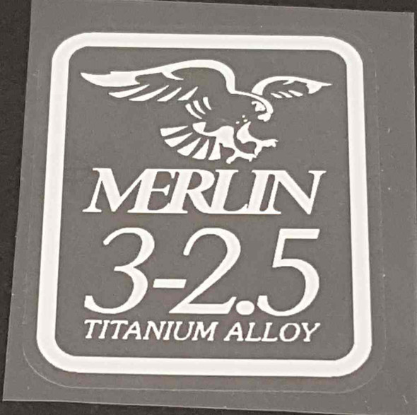 Merlin 3-2.5 Tubing Decal - White