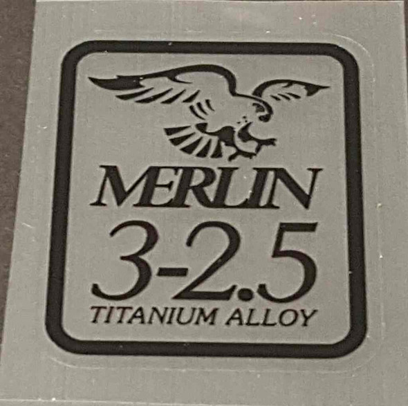 Merlin 3-2.5 Tubing Decal - Black - Choose Size