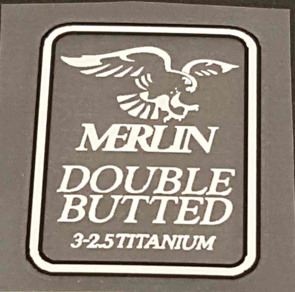 Merlin Double Butted Tubing Decal - White/Black