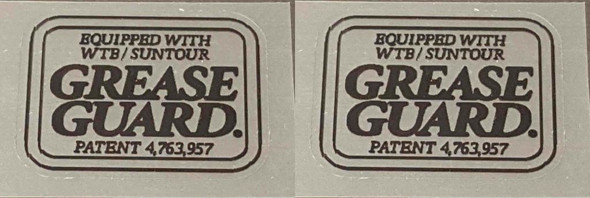 Merlin Grease Guard Decals - 1 Pair Black/Clear