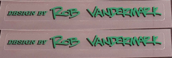 Vandermark Signature Decals - 1 Pair Choice of Color