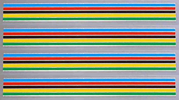 Fuji Stripes Decals with Chrome - 10mm - Set of 4