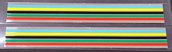 Fuji Stripes Decals with Chrome - 1 Pair - 13mm
