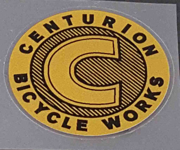Centurion Cycle Works Head Badge Decal - Gold