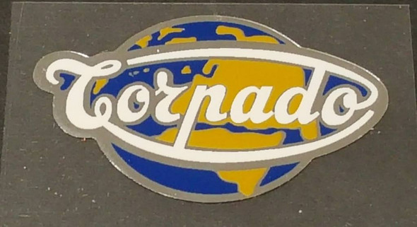 Torpado Globe Head Badge Decal with Chrome