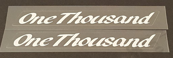 Miyata One Thousand Top Tube Decals - 1 Pair - Choice of Color