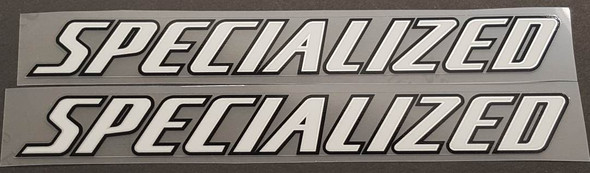 Specialized Stay Decals w/Silver Inner Outline - 1 Pair - Choose Colors