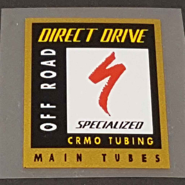 Specialized Direct Drive CrMo Tubing Decal