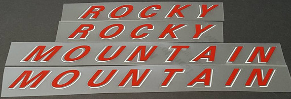 Rocky Mountain Down Tube Decals - 1 Pair - Choice of Colors