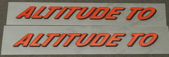 Rocky Mountain Altitude To Top Tube Decals - 1 Pair - Choose Colors