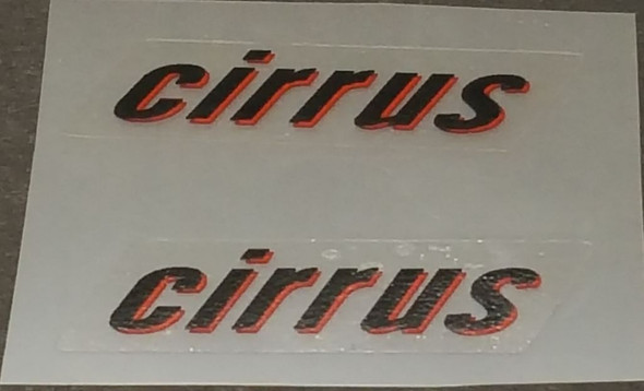Rocky Mountain cirrus Top Tube Decals - 1 Pair - Choose Colors