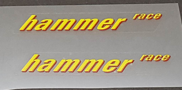 Rocky Mountain hammer race Top Tube Decals - 1 Pair - Choose Colors