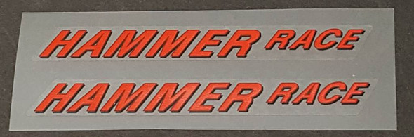 Rocky Mountain HAMMER RACE Top Tube Decals - 1 Pair - Choice of Colors