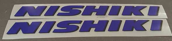 Nishiki Down Tube Decals - 1 Pair - Select Colors
