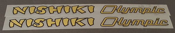Nishiki Olympic Combo Down Tube Decals  (traditional)- 1 Pair